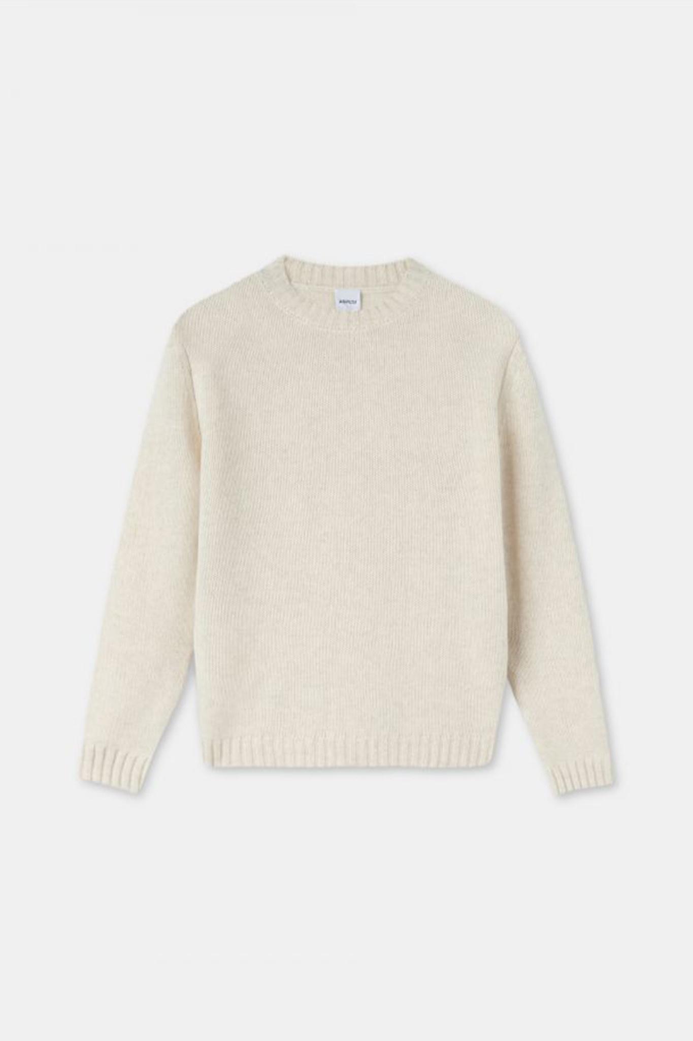 Cashmere Crewneck Sweater - Cream-1