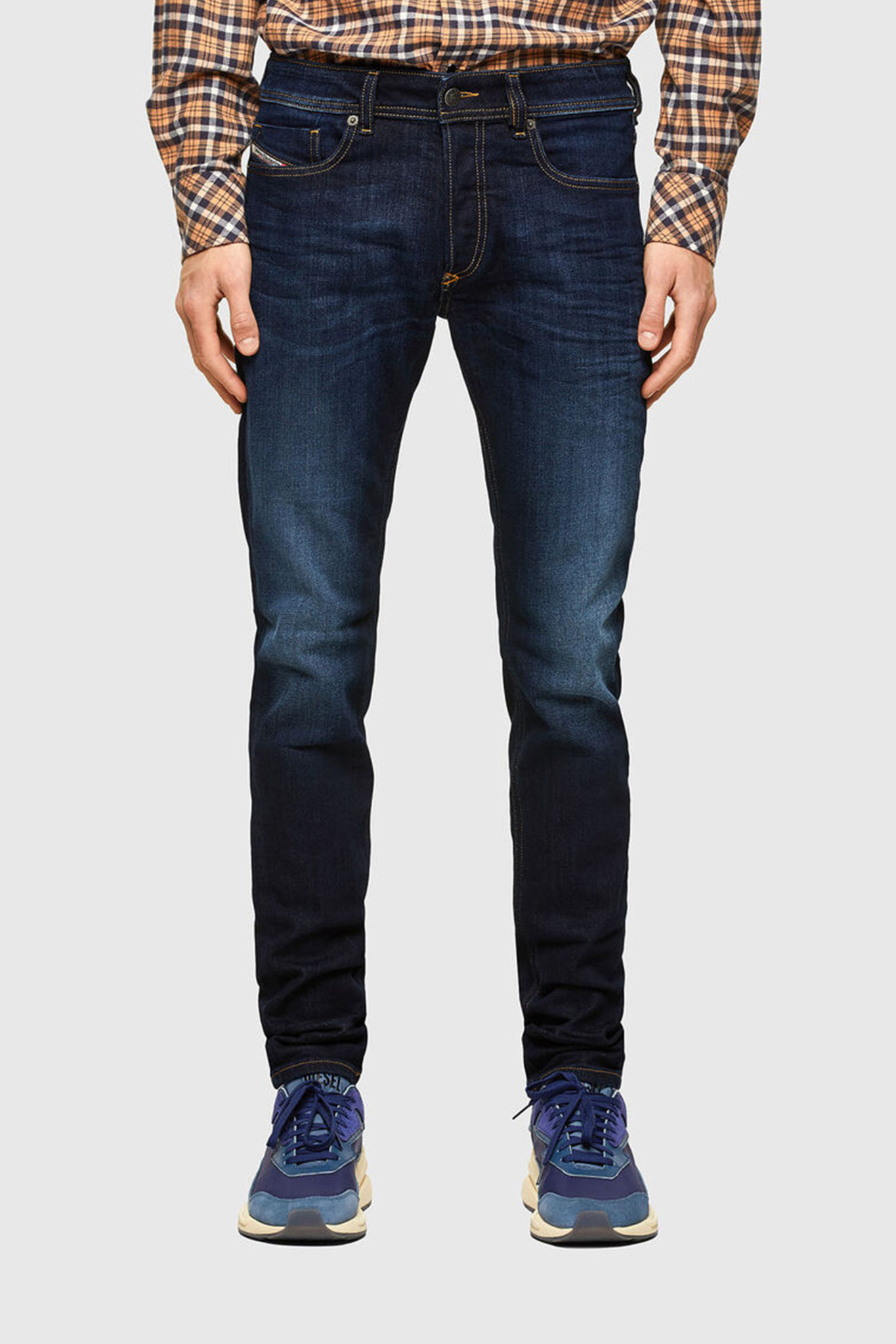 Sleenker 009EY Skinny Jeans - Dark Blue-1