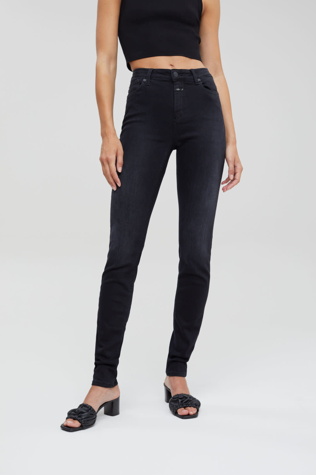 Lizzy Stretch Jeans - Black-1