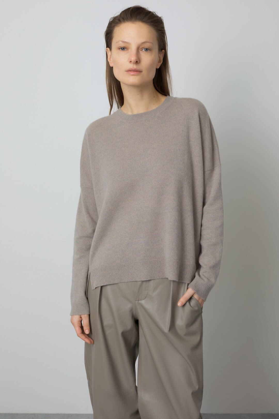 Cashmere Sweater - Muddy Beige-1