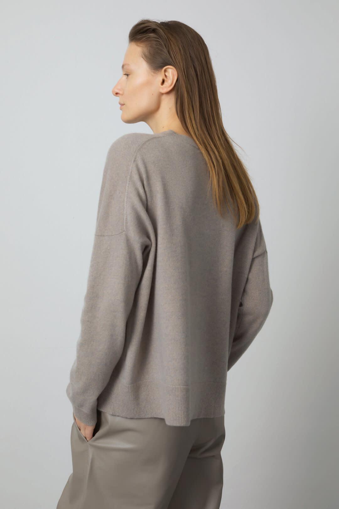Cashmere Sweater - Muddy Beige-2