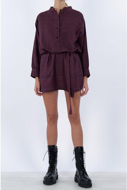 Leila K Dress - Red/Purple