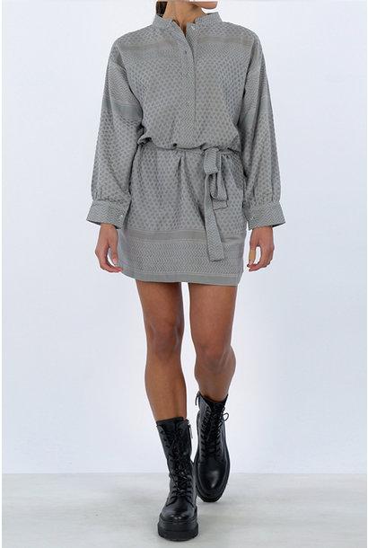 Leila K Dress - Grey