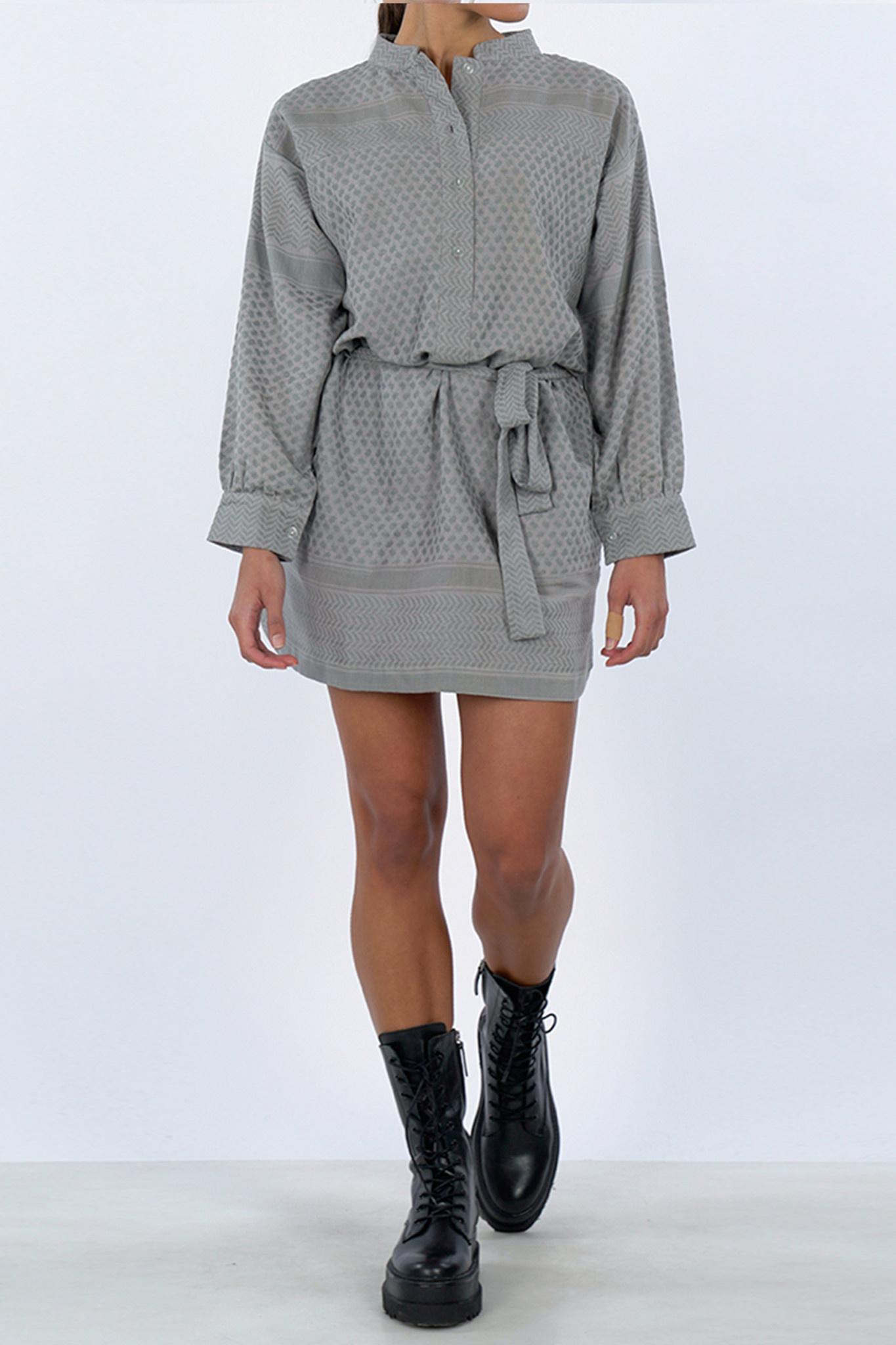 Leila K Dress - Grey-1