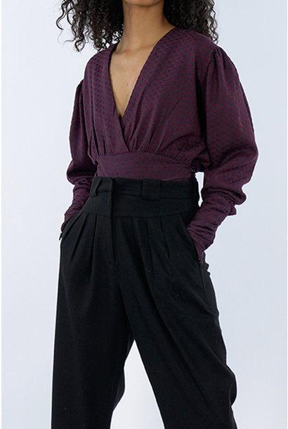 Nanala Top - Red/Purple