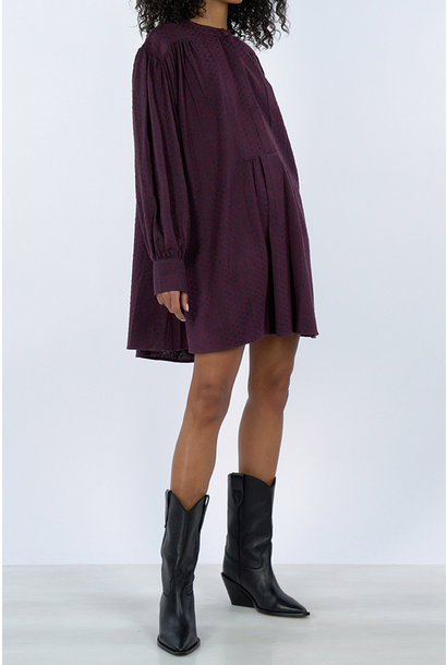 Prunella Dress - Red/Purple
