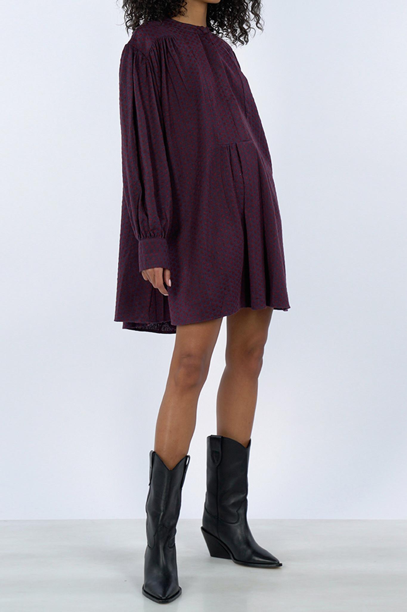 Prunella Dress - Red/Purple-1