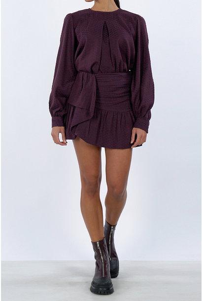 Zahara Skirt - Red/Purple