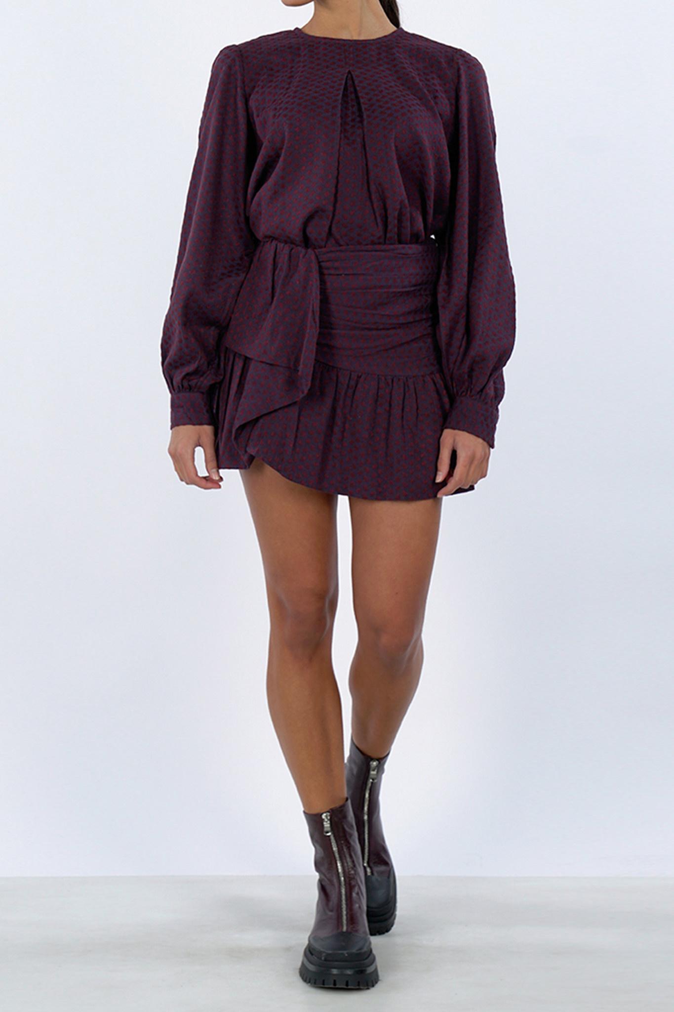 Zahara Skirt - Red/Purple-1