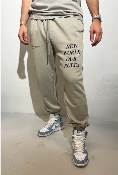 Sweatpants Quote and Logo - Warm Grey