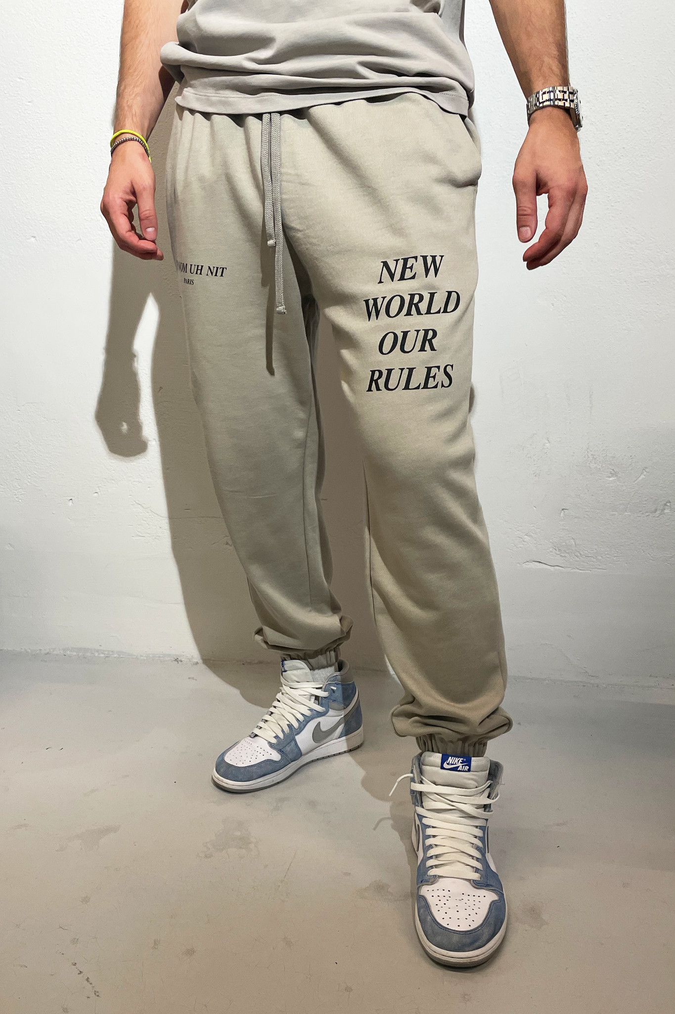 Sweatpants Quote and Logo - Warm Grey-1