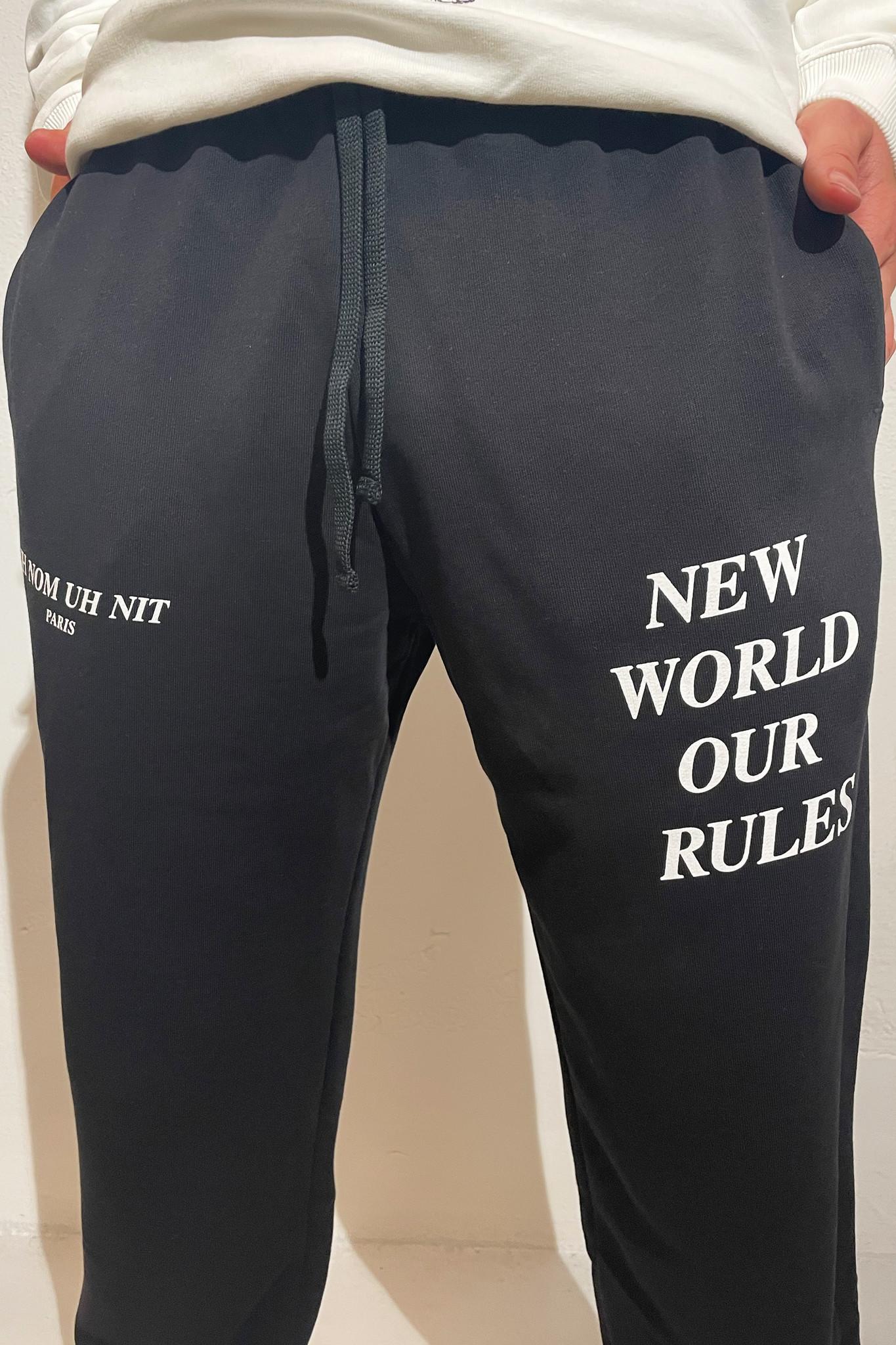 Sweatpants Quote and Logo - Black-2