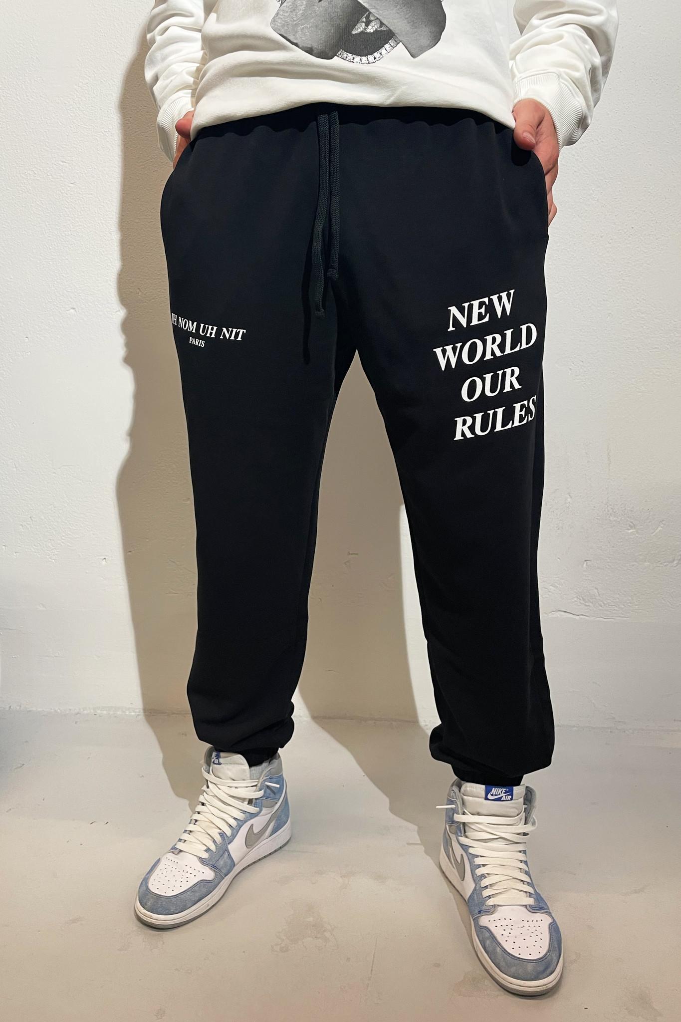 Sweatpants Quote and Logo - Black-1
