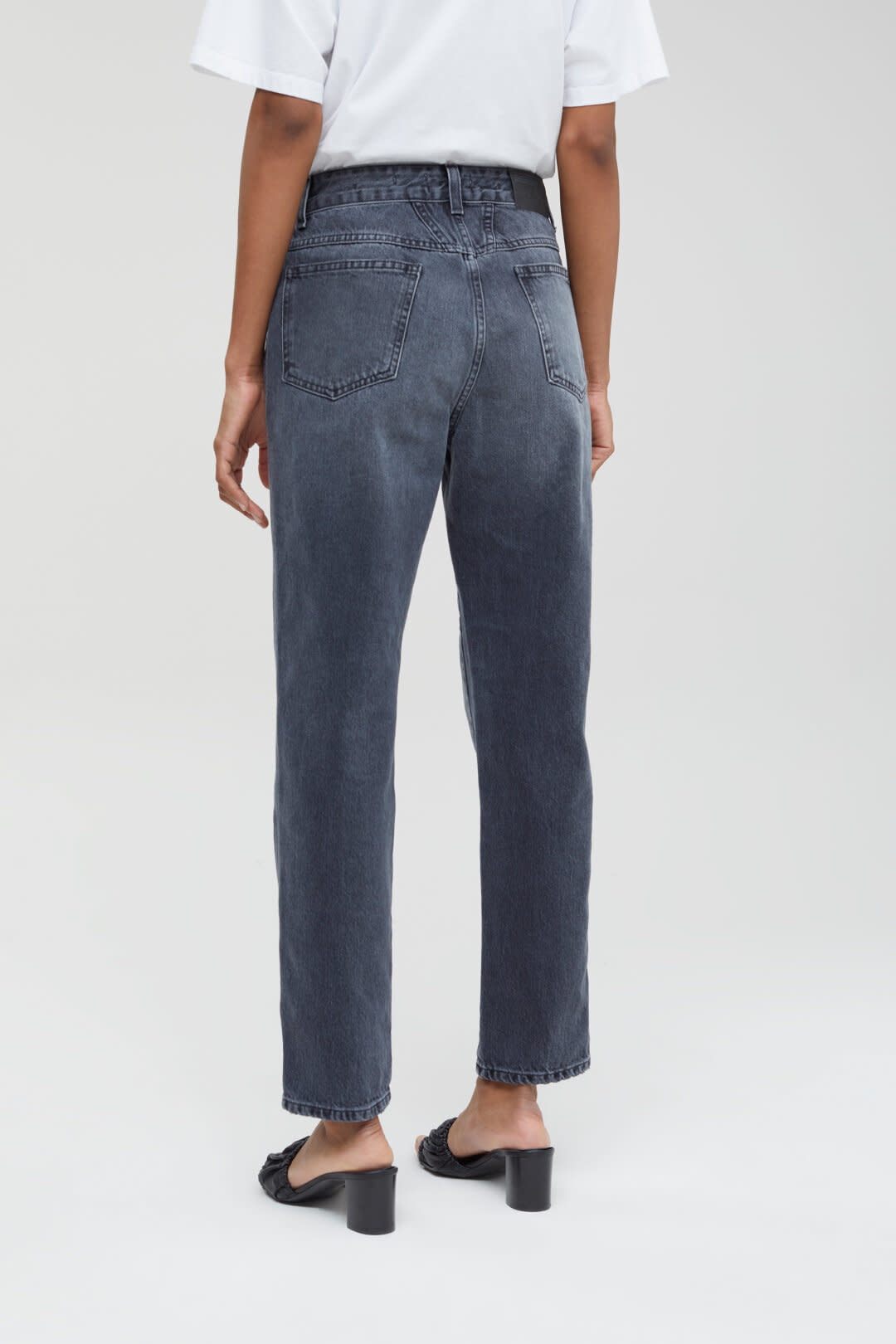 Pedal Pusher Jeans - Mid Grey-2