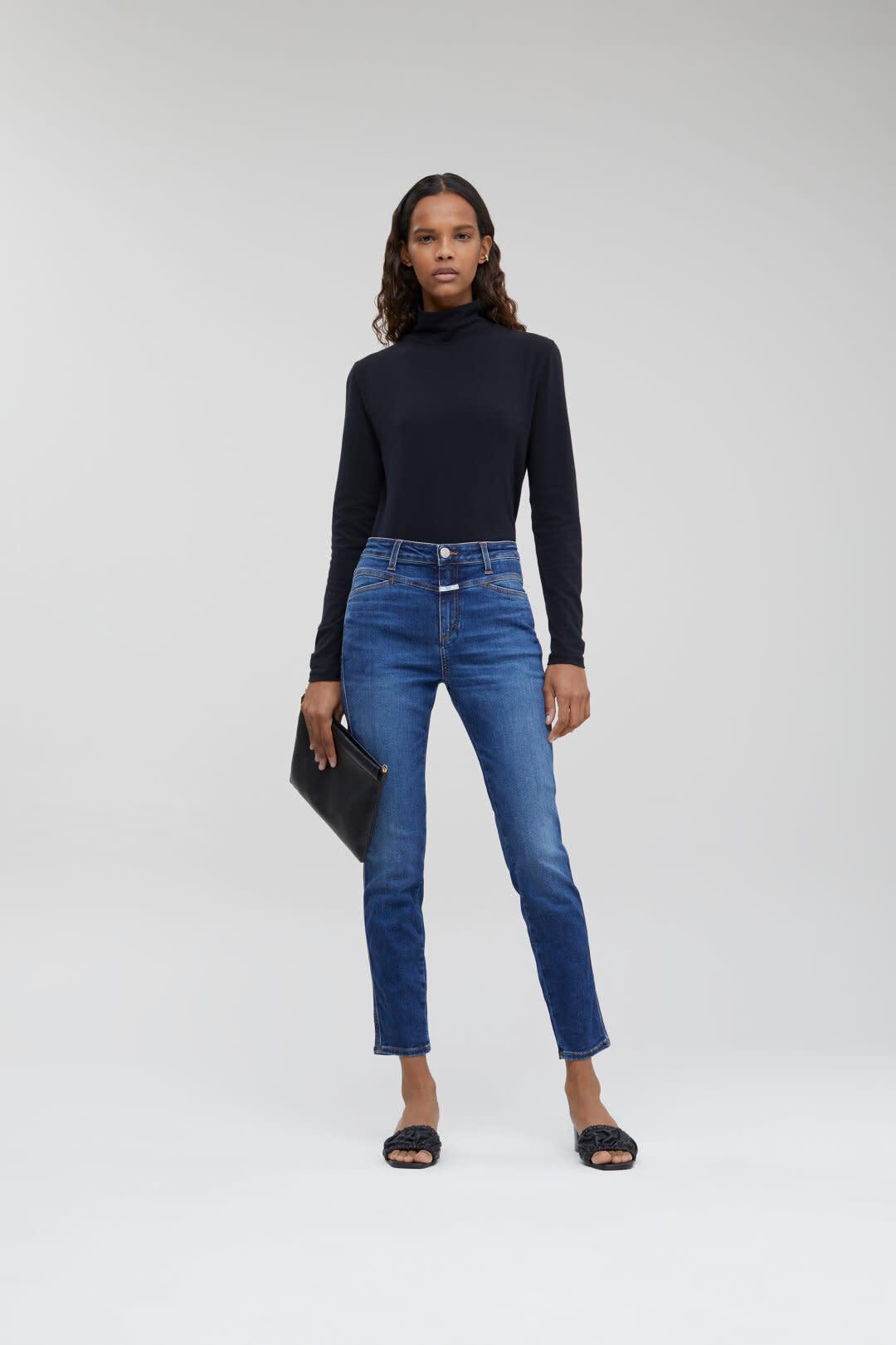 Skinny Pusher Jeans - Dark Blue-1