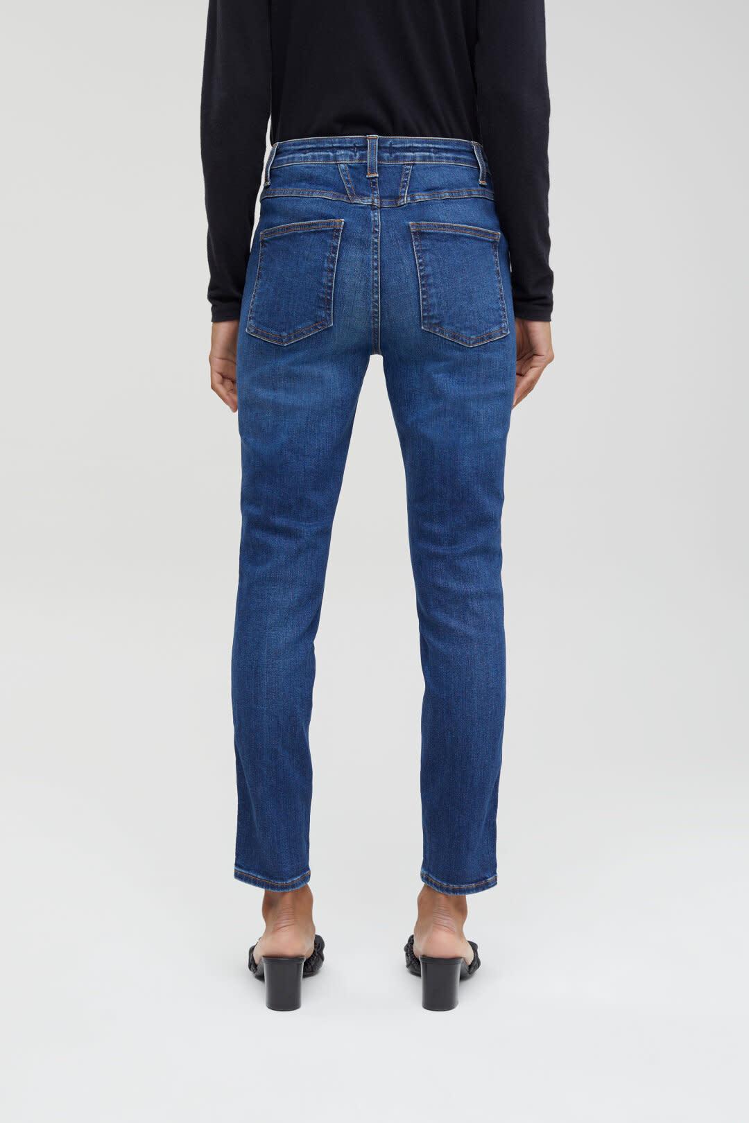 Skinny Pusher Jeans - Dark Blue-2