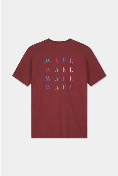 T-shirt Embroidered Logo - Bordeaux