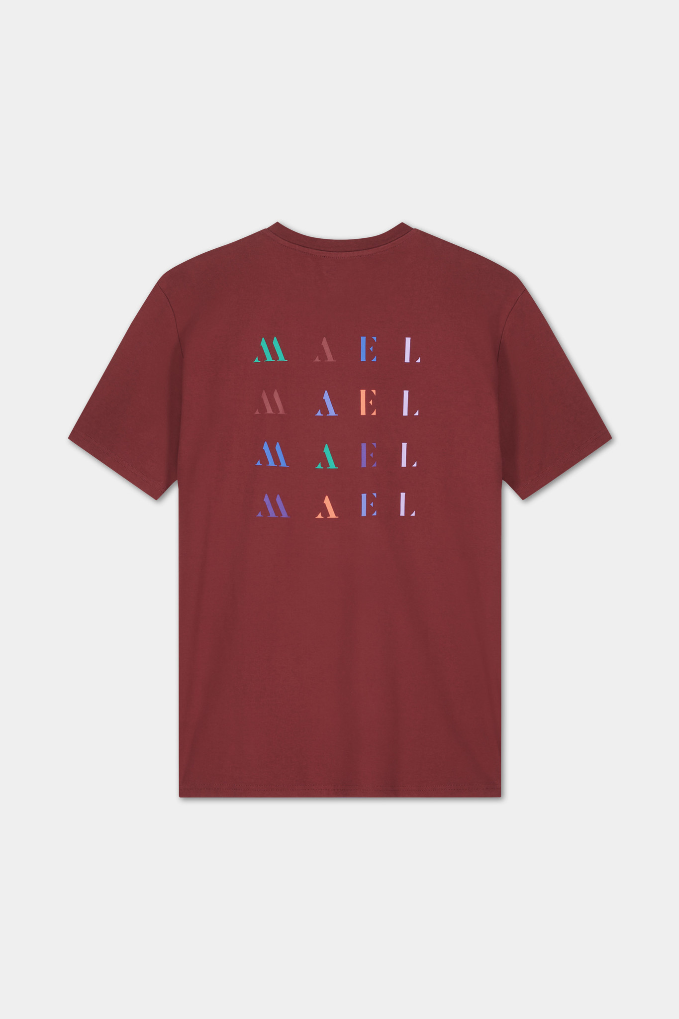 T-shirt Embroidered Logo - Bordeaux-1