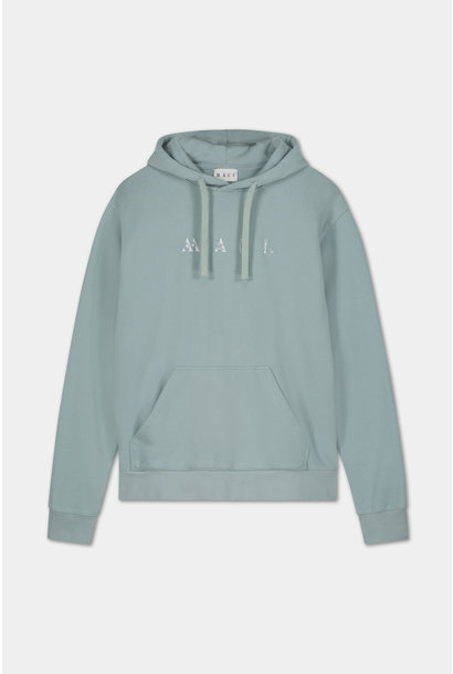 Hoodie Embroidered Logo - Blue