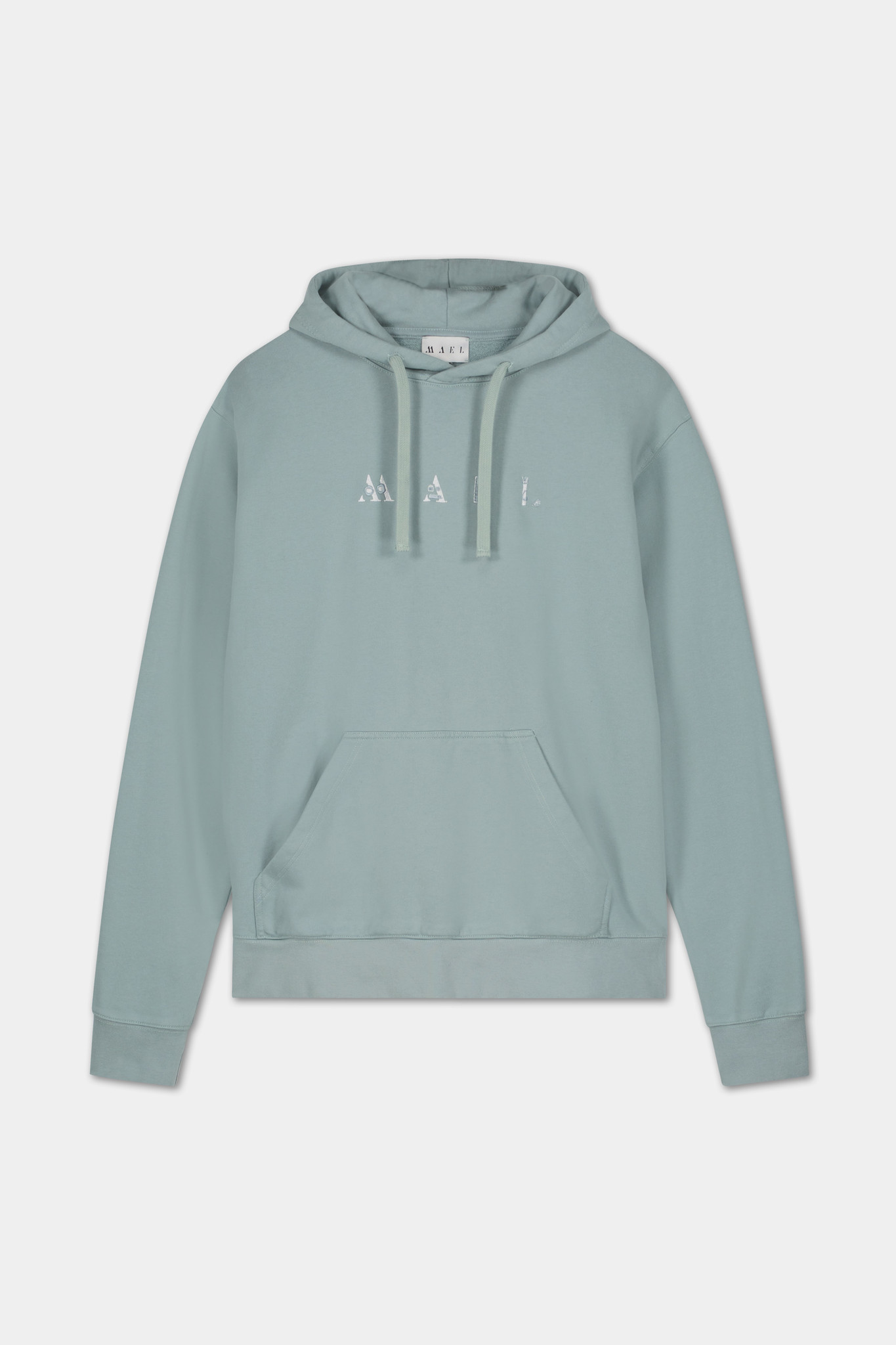 Hoodie Embroidered Logo - Blue-1