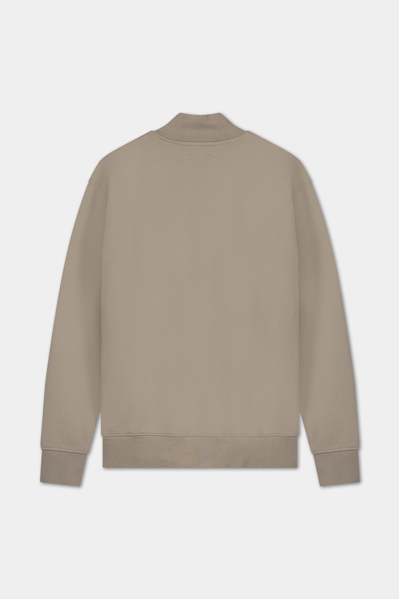 Zip Sweater Embroidered Logo - Grey-2