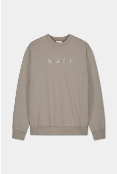 Sweater Embroidered Logo - Grey