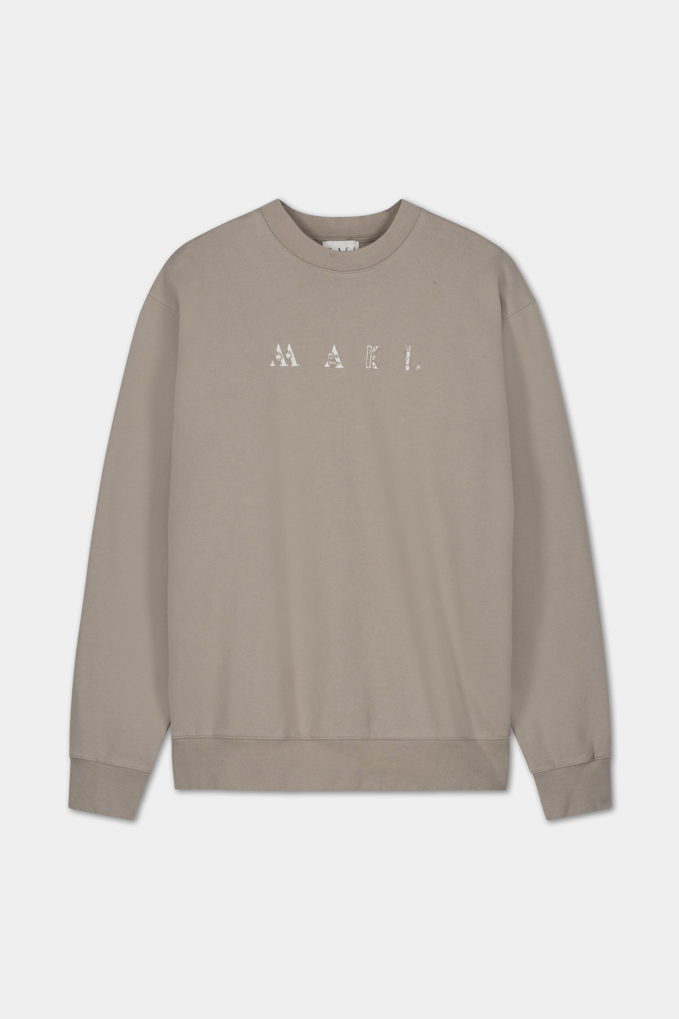 Sweater Embroidered Logo - Grey-1