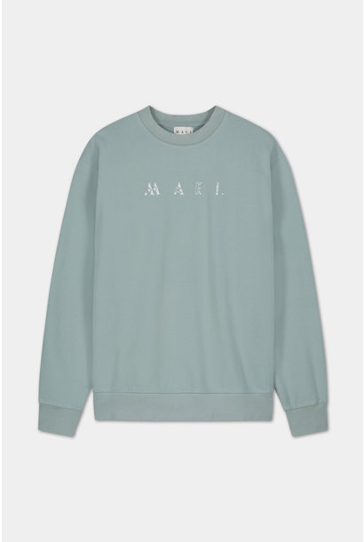 Sweater Embroidered Logo - Blue