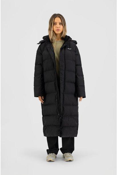 Long Puffer Jacket - Black