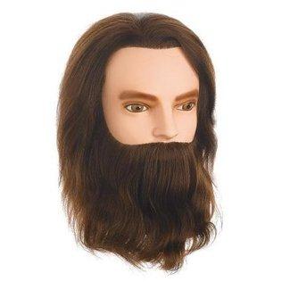 Sinelco Oefenhoofd karl baard en snor 30-35 cm