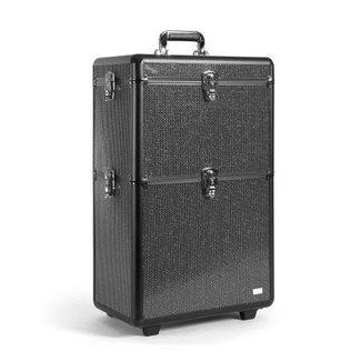 Sinelco Strass xl aluminium koffer met 2 opbergniveaus-sibel
