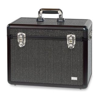 Sinelco Back stage zwart strass grote beauty case 42,3X25,2X32CM
