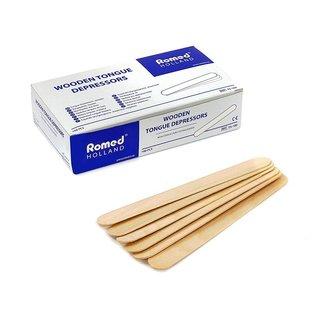 Romed Romed houten tongspatels 100 stuks