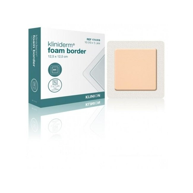 Klinion Kliniderm Foam schuimverband met Border 12x5x12,5cm