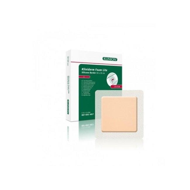 Klinion Kliniderm Foam Silicone Lite schuimverband met Border 10x10cm