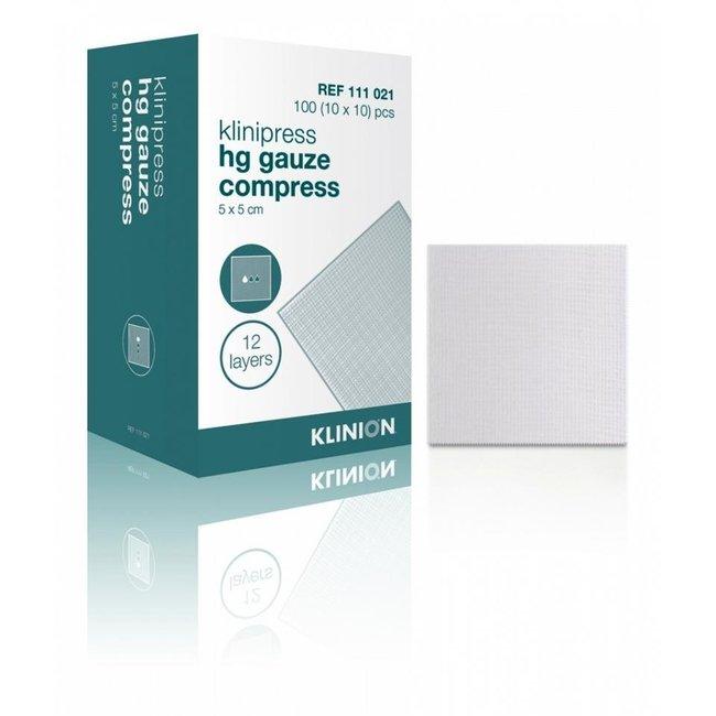 Klinion Klinion gaaskompres HG 12-laags 10x10cm 100 stuks