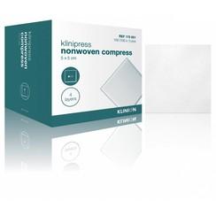 Klinion gaaskompres nonwoven steriel 4-laags 5x5cm (100 stuks)