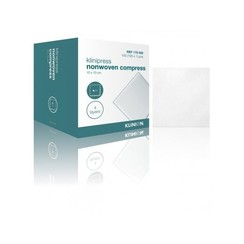 Klinion gaaskompres nonwoven steriel 4-laags 10x10cm