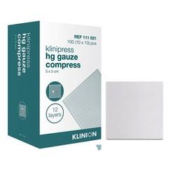 Klinion gaaskompres HG steriel 12-laags 10x20cm 50 stuks