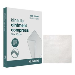 Klinion paraffine gaasjes 10x10cm (10 stuks)