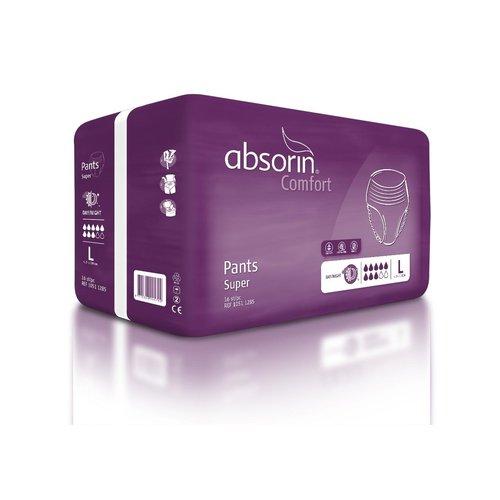 Absorin Absorin comfort pant super <130cm l wit 10511285