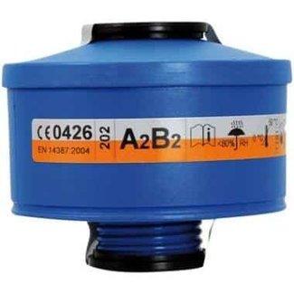 Spasciani Spasciani 201 gas- en dampfilter A2B2 4 stuks