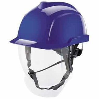 MSA MSA V-Gard 950 ongeventileerde veiligheidshelm blauw