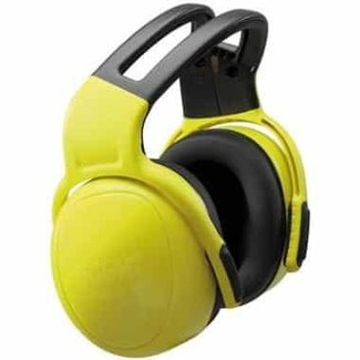 MSA MSA left/RIGHT HIGH gehoorkap met hoofdband geel