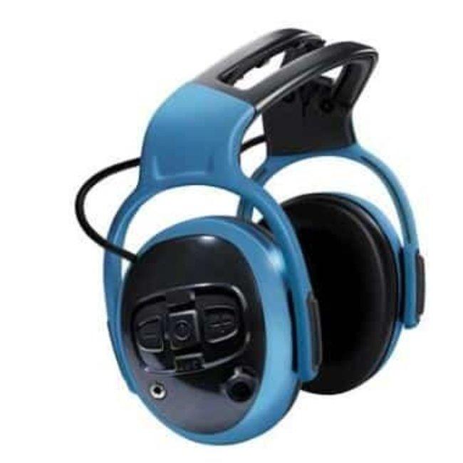 MSA MSA left/RIGHT CutOff Pro gehoorkap met hoofdband blauw