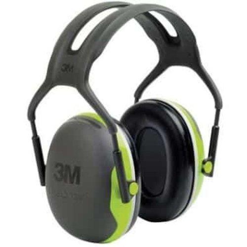 3M 3M Peltor X4A gehoorkap met hoofdband zwart/lime