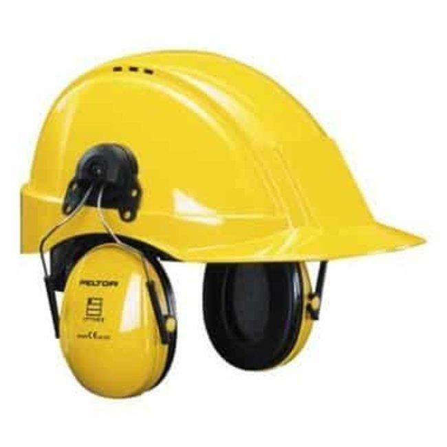 3M 3M Peltor Optime I H510P3E gehoorkap met helmbevestiging geel