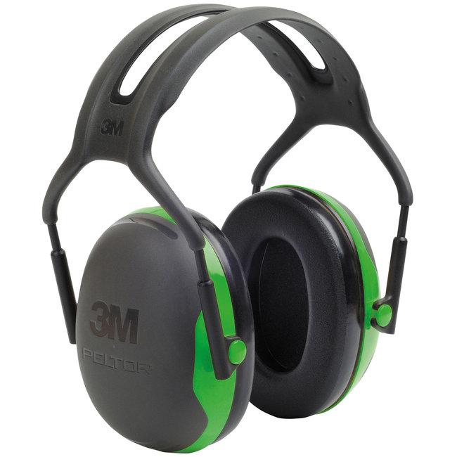 3M 3M Peltor X1A gehoorkap met hoofdband zwart/groen