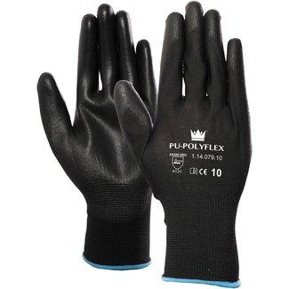 M-Safe PU/polyester 1 paar handschoenen Zwart