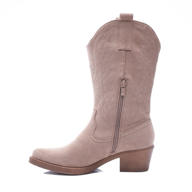 Cowboy Boots suède Taupe Nude